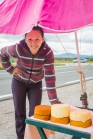 A street side cheese vendor... best $20 ever spent... so over priced but it totally made her day (and maybe her week!)