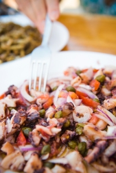 Fresh octopus salad - Croatia
